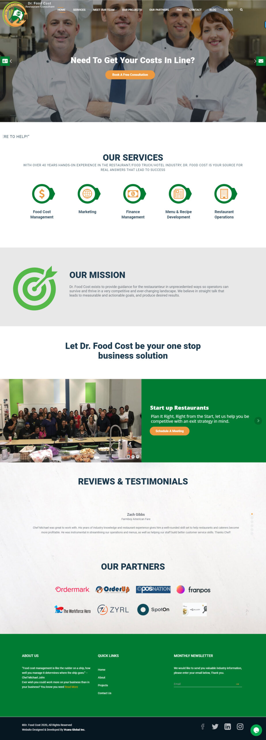 dr food cost - vcana global
